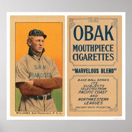 Williams San Francisco Baseball 1910 Poster