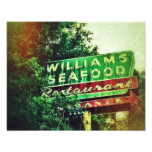 Williams Seafood Sign Photo Print