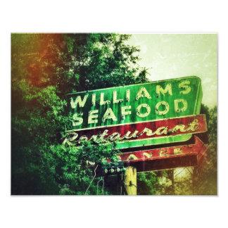 Williams Seafood Sign Photo Print