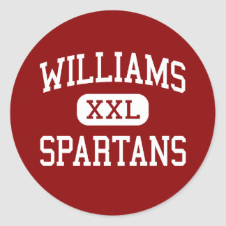 Williams - Spartans - joven - Bridgewater Pegatinas Redondas