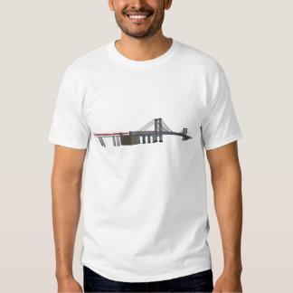 Williamsburg Bridge: 3D Model: Tee Shirt