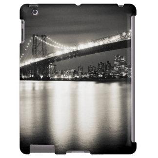 Williamsburg bridge in New York City at night