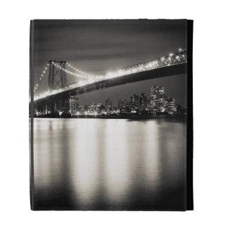 Williamsburg bridge in New York City at night iPad Folio Cases