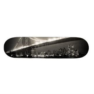 Williamsburg bridge in New York City at night Skateboard