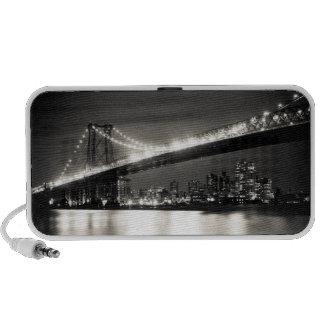 Williamsburg bridge in New York City at night iPod Speakers