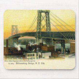 Williamsburg Bridge, New York City, 1905 Vintage mousepad