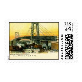 Williamsburg Bridge, New York City, 1905 Vintage Postage