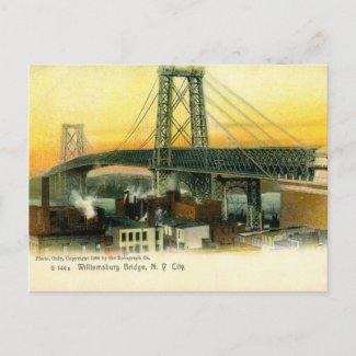 Williamsburg Bridge, New York City, 1905 Vintage postcard