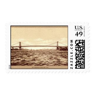 Williamsburg Bridge, New York City 1907 vintage Postage