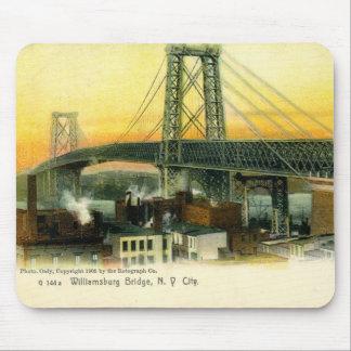 Williamsburg Bridge, New York City, vintage 1905 Tapete De Ratón
