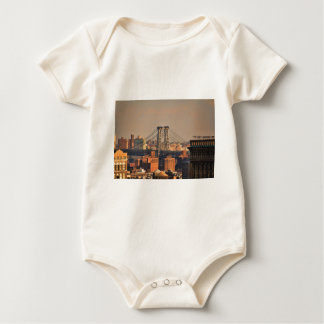 Williamsburg Bridge NYC on a cloudy day Baby Bodysuits