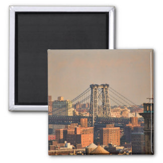 Williamsburg Bridge NYC on a cloudy day Refrigerator Magnets