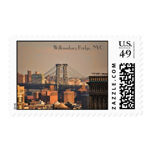 Williamsburg Bridge NYC on a cloudy day Stamps