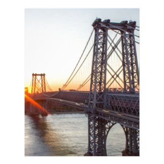 Williamsburg Bridge Sunset Brooklyn NYC Letterhead