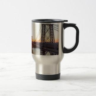 Williamsburg Bridge Sunset Brooklyn NYC Travel Mug