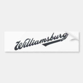 Williamsburg Car Bumper Sticker