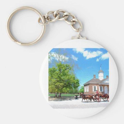 Williamsburg colonial llavero redondo tipo pin