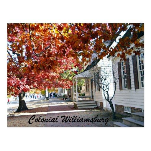 Williamsburg colonial tarjetas postales