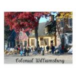 Williamsburg colonial tarjeta postal