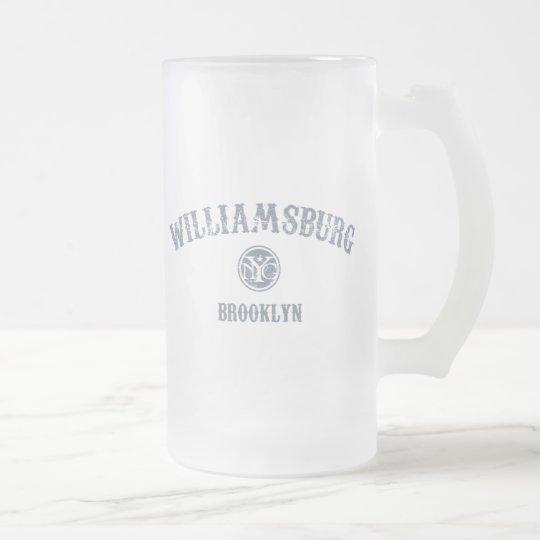 Williamsburg Frosted Glass Beer Mug