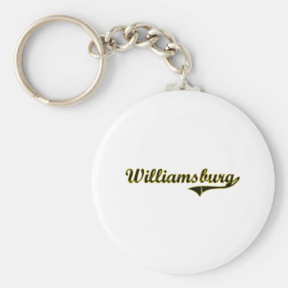 Williamsburg Iowa Classic Design Keychain