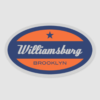 Williamsburg Oval Sticker