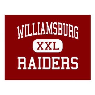 Williamsburg - Raiders - High - Williamsburg Iowa Postcard