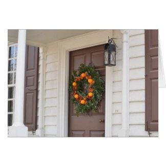Williamsburg Wreath Card