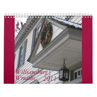 Williamsburg Wreaths Wall Calendars
