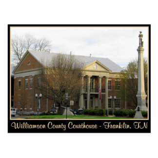 Williamson County Courthouse - Franklin, TN Postcard