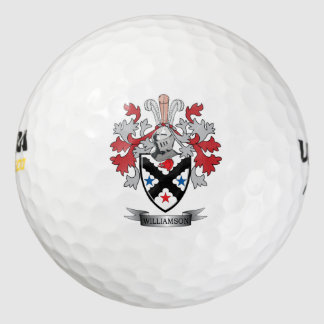 Williamson Family Crest Coat of Arms Golf Balls