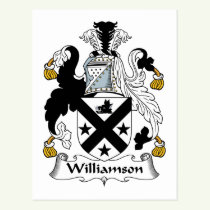 Williamson Family Crest Postcard