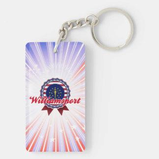 Williamsport, IN Double-Sided Rectangular Acrylic Keychain