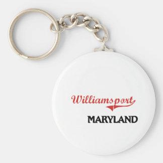 Williamsport Maryland City Classic Basic Round Button Keychain