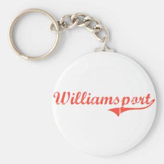 Williamsport Maryland Classic Design Basic Round Button Keychain