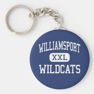 Williamsport - Wildcats - High - Williamsport Basic Round Button Keychain