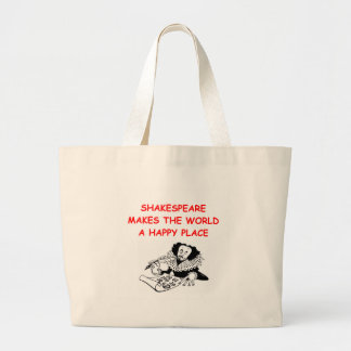 willian shakespeare large tote bag