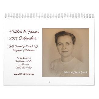 Willie B Farm 2011 Calendar