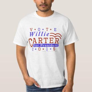 Willie Carter President 2016 Election Democrat T-shirt