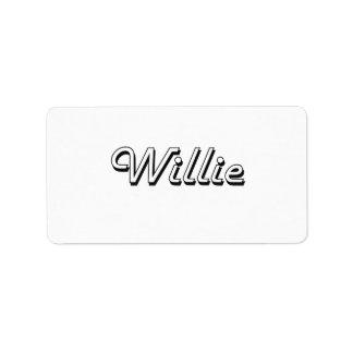 Willie Classic Retro Name Design Address Label