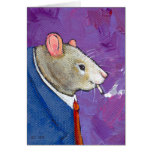 Willie la rata - pintura que fuma del hombre de ne tarjeton