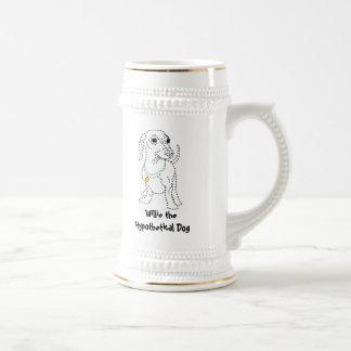 Willie the Hypothetical Dog Beer Stein Mug