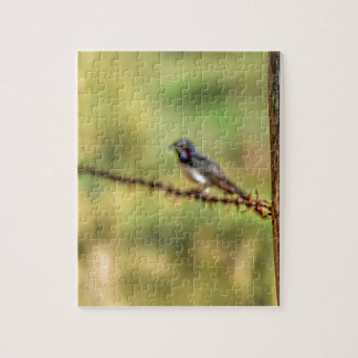WILLIE WAGTAIL AUSTRALIA WITH ART EFFECTS JIGSAW PUZZLE