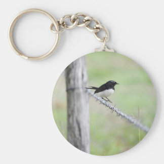 WILLIE WAGTAIL QUEENSLAND AUSTRALIA KEYCHAIN