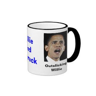 Willie y cuartel taza de dos colores