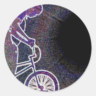 WillieBMX The Glowing Edge Classic Round Sticker