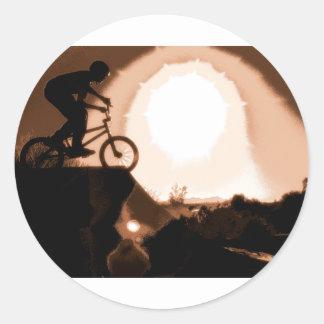 WillieBMX Warm Earth Tone Classic Round Sticker