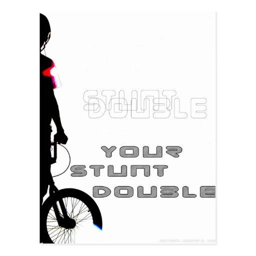 WillieBMX Your Stunt Double Postcard