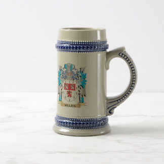 Willies Coat of Arms - Family Crest 18 Oz Beer Stein