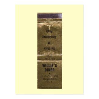 Willie's Diner, Bloomfield, New Jersey Vintage Postcard